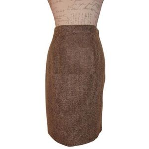PERCEPTIONS   Houndstooth Straight Pencil Skirt